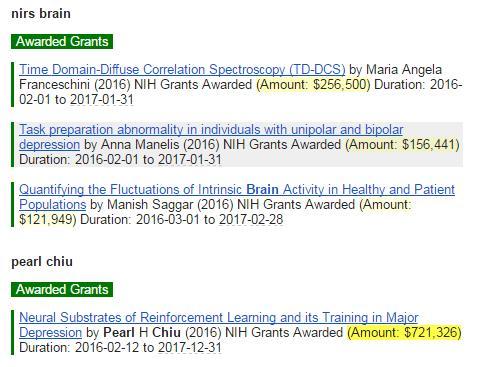 Stork notifies me of awarded grants