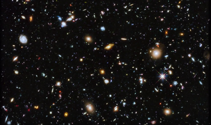There are 3 thousand galaxies with trillions of stars
